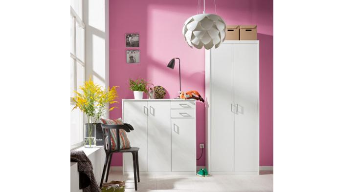 kleiderschrank in eicheweiss zum super schn ppchenpreis. Black Bedroom Furniture Sets. Home Design Ideas