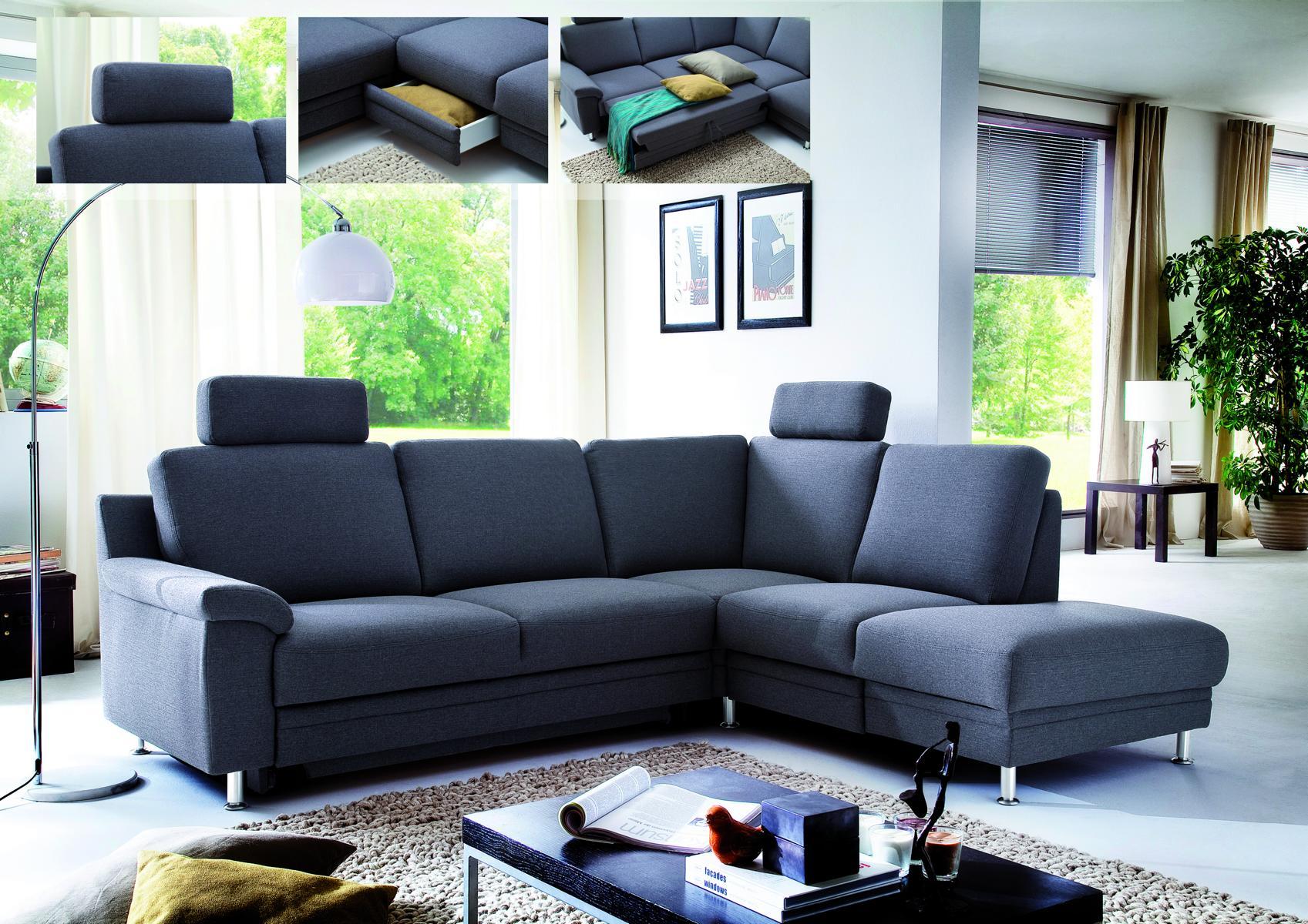 polstergarnitur mit bettfunktion und stauraum ausziehsofa schlafsofa ebay. Black Bedroom Furniture Sets. Home Design Ideas