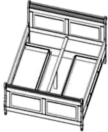 bett doppelbett mit 2 schubk sten ebay. Black Bedroom Furniture Sets. Home Design Ideas