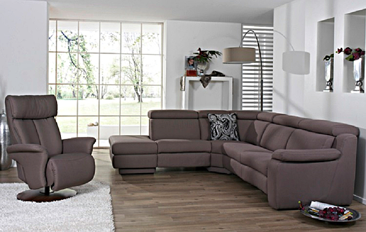 polstergarnitur 1302 mit wallfree und leder von himolla. Black Bedroom Furniture Sets. Home Design Ideas