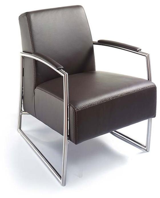 Einzelsessel loungesessel clubsessel in leder von k w for Einzelsessel leder
