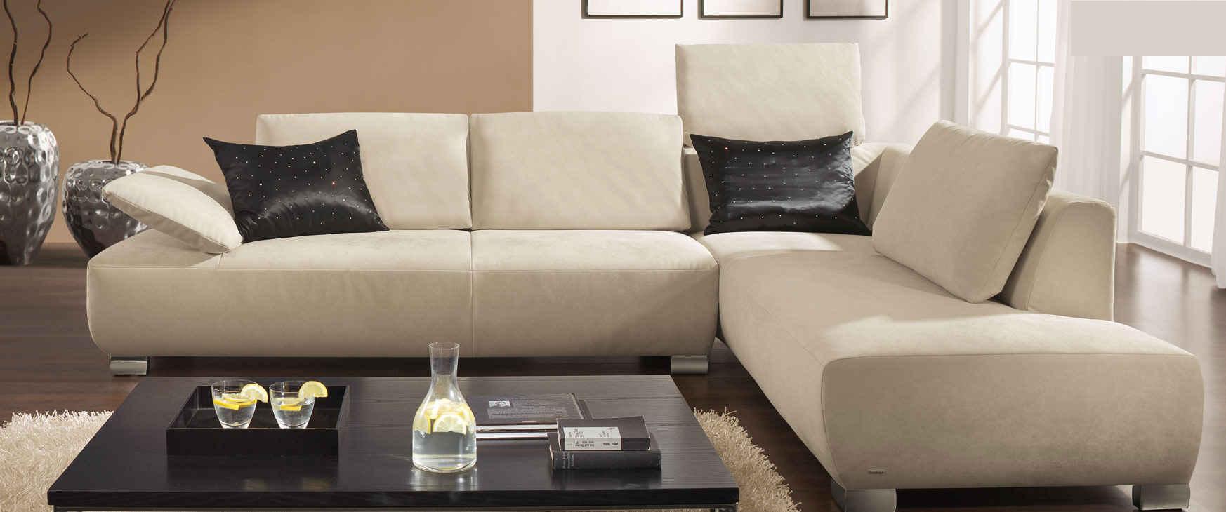 polstergarnitur couch ottomane sofa aus leder von koinor ebay. Black Bedroom Furniture Sets. Home Design Ideas