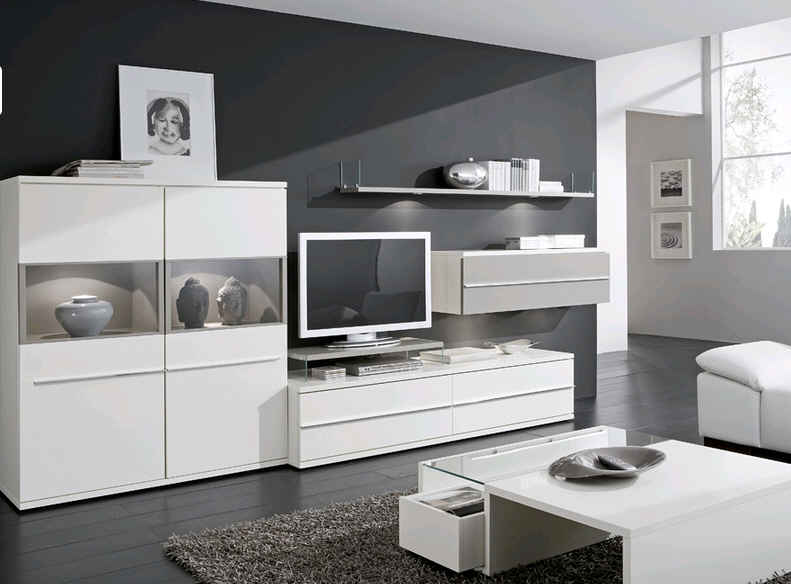 wohnwand wohnzimmer wandboard 2er set kito von loddenkemper super angebot ebay. Black Bedroom Furniture Sets. Home Design Ideas