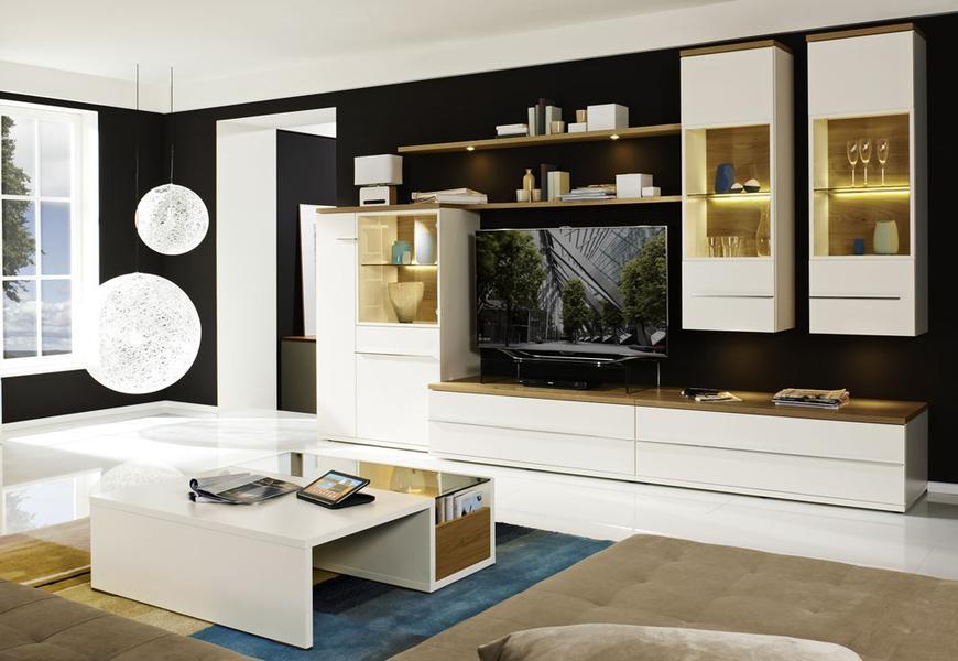 wohnwand h ngeschrank modena von loddenkemper zum hammerpreis ebay. Black Bedroom Furniture Sets. Home Design Ideas