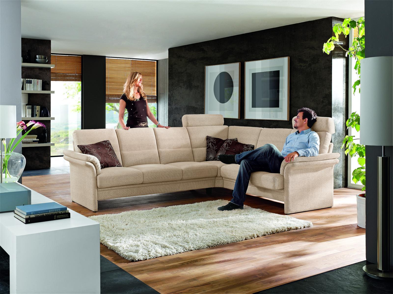 sofa couch polstergarnitur mit sessel cortina 100 von gepade ebay. Black Bedroom Furniture Sets. Home Design Ideas