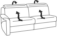 polstergarnitur sofa couch lounge tangram motion 9701 von himolla ebay. Black Bedroom Furniture Sets. Home Design Ideas